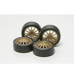 Tamiya Low-Height Tire/Wheel Set (FIN)  (TAM15358)