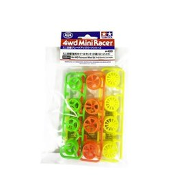 Tamiya Fluorescent Wheel Set Sm.Dia/Low  (TAM95241)