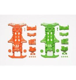 Tamiya JR Fluorescent Chassis Set - VS Chassis (Orange/Green)  (TAM95355)