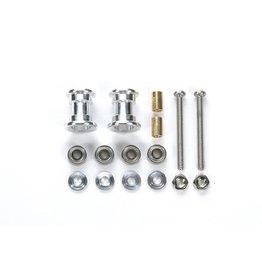 Tamiya JR LW Double Aluminum Rollers - 9-8mm  (TAM95380)