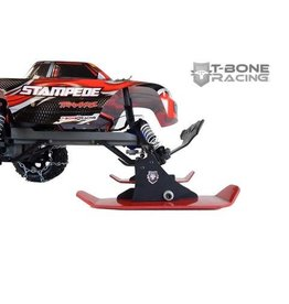 TBone Racing TBR 2018 V3 Snow Skis - Traxxas 1/10 2WD - Red