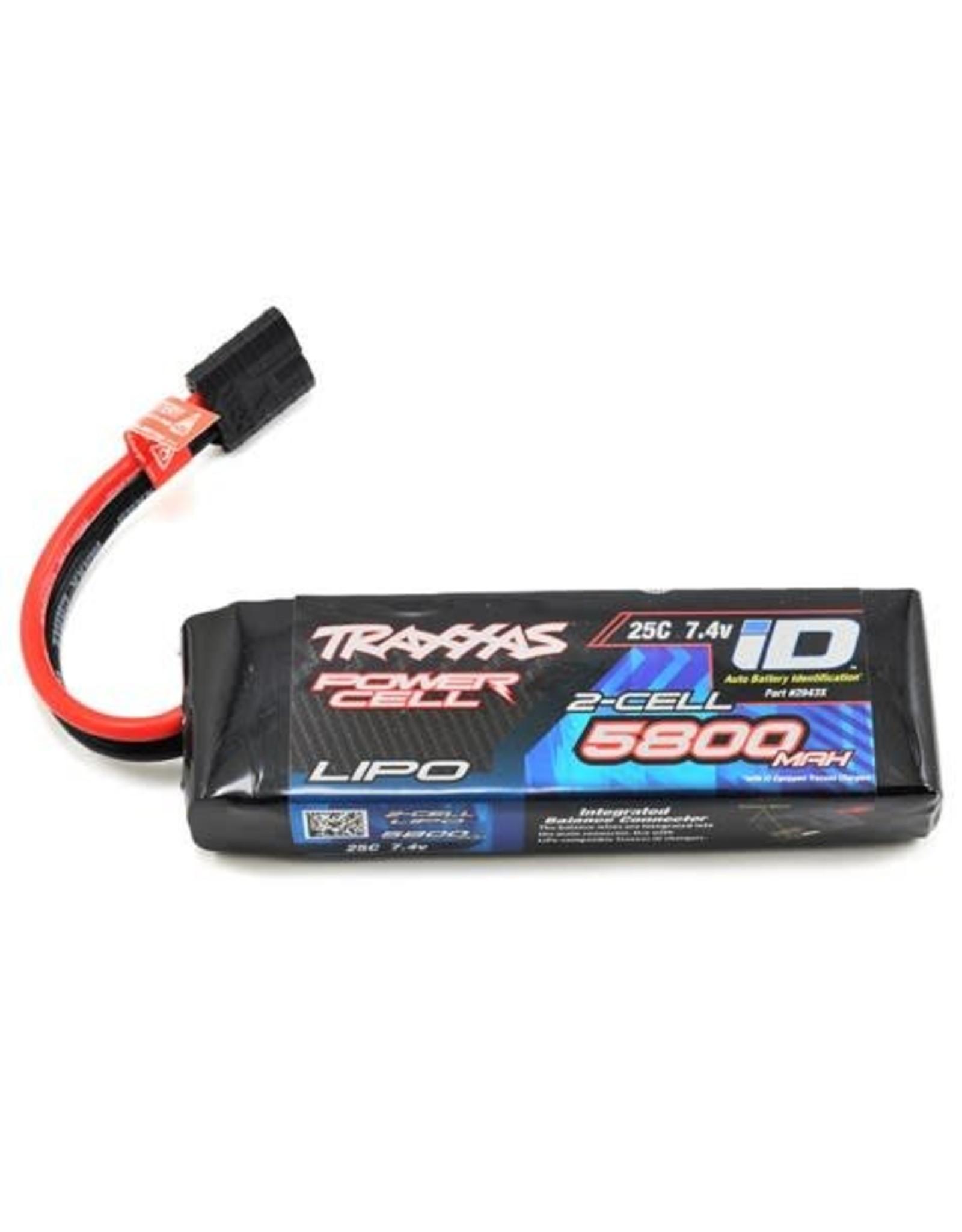 Traxxas 7.4V 5800mAh 25C 2S LiPo Battery with TRA ID (TRA2843X)