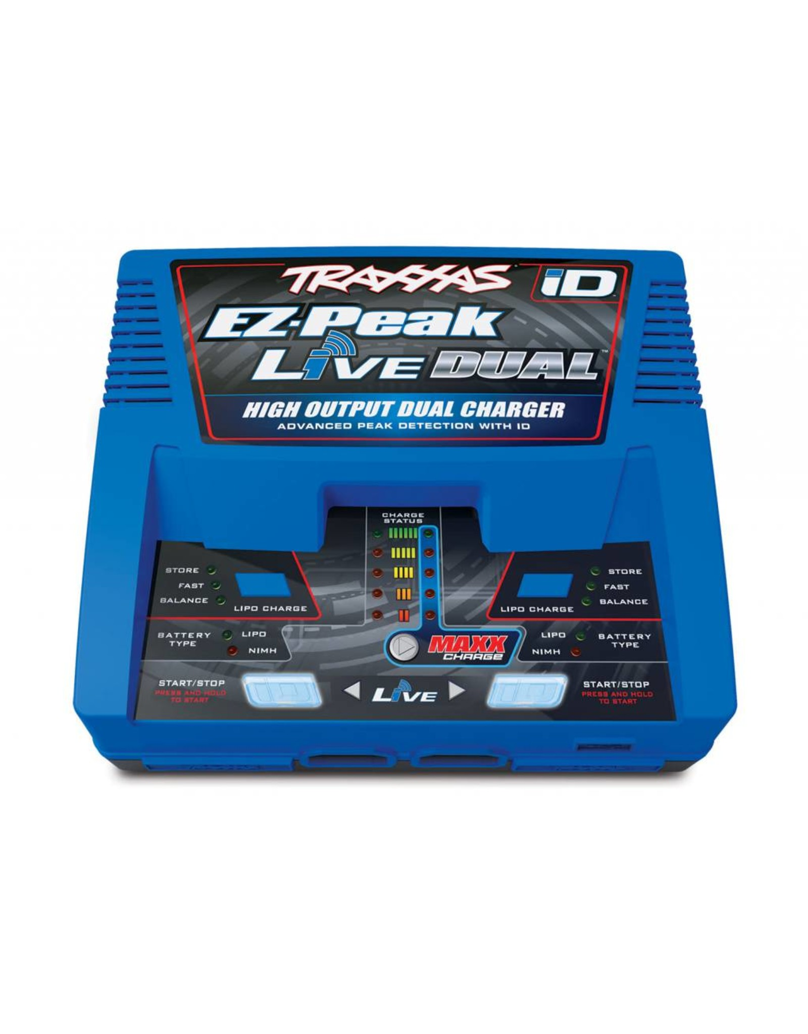 Traxxas Charger, EZ-Peak Live Dual, 200W, NiMH/LiPo with iD Auto Battery Identification (TRA2973)