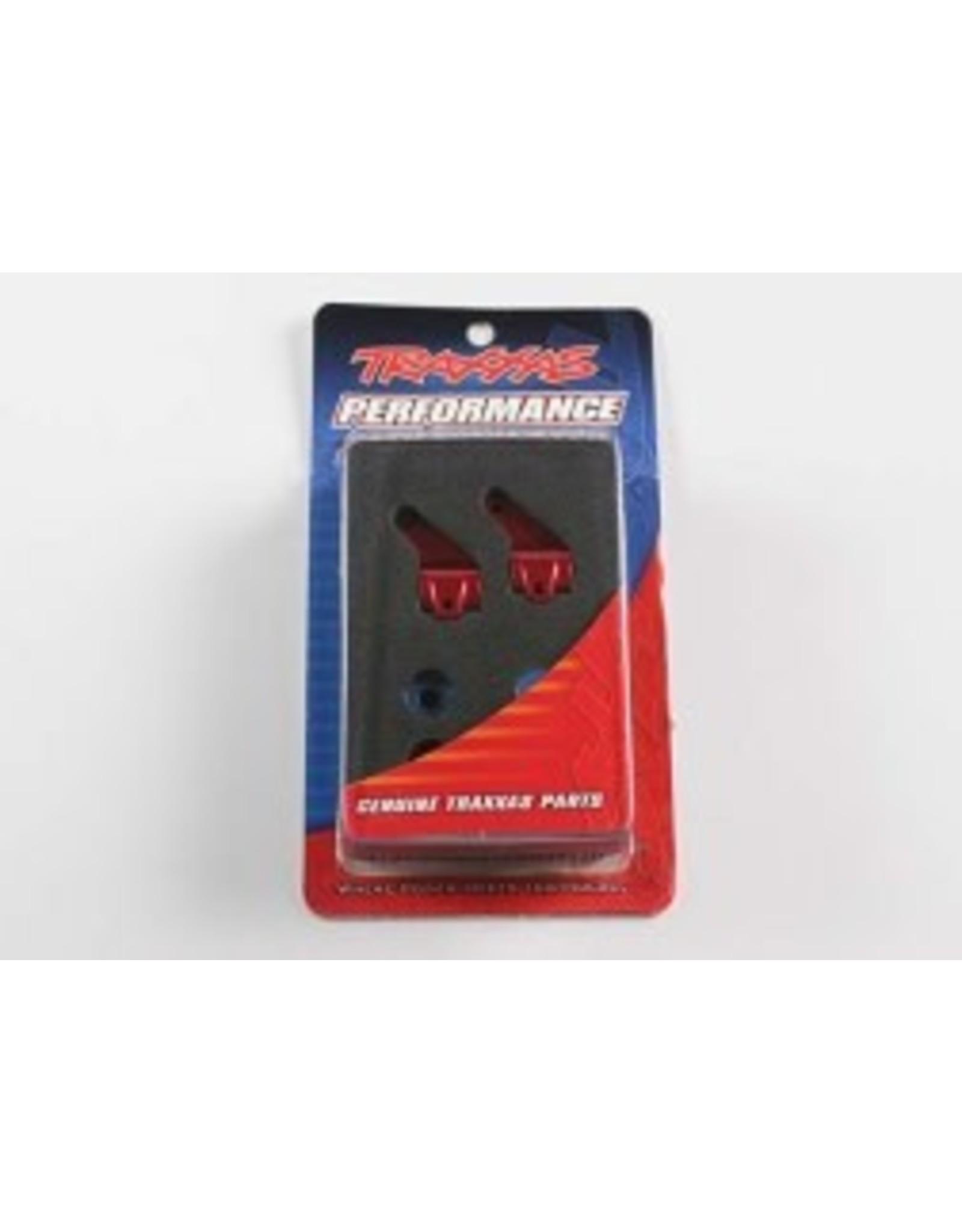 Traxxas AlumSteeringBlocks(2),Redw/BallBearings RU, ST, BA (TRA3636X)