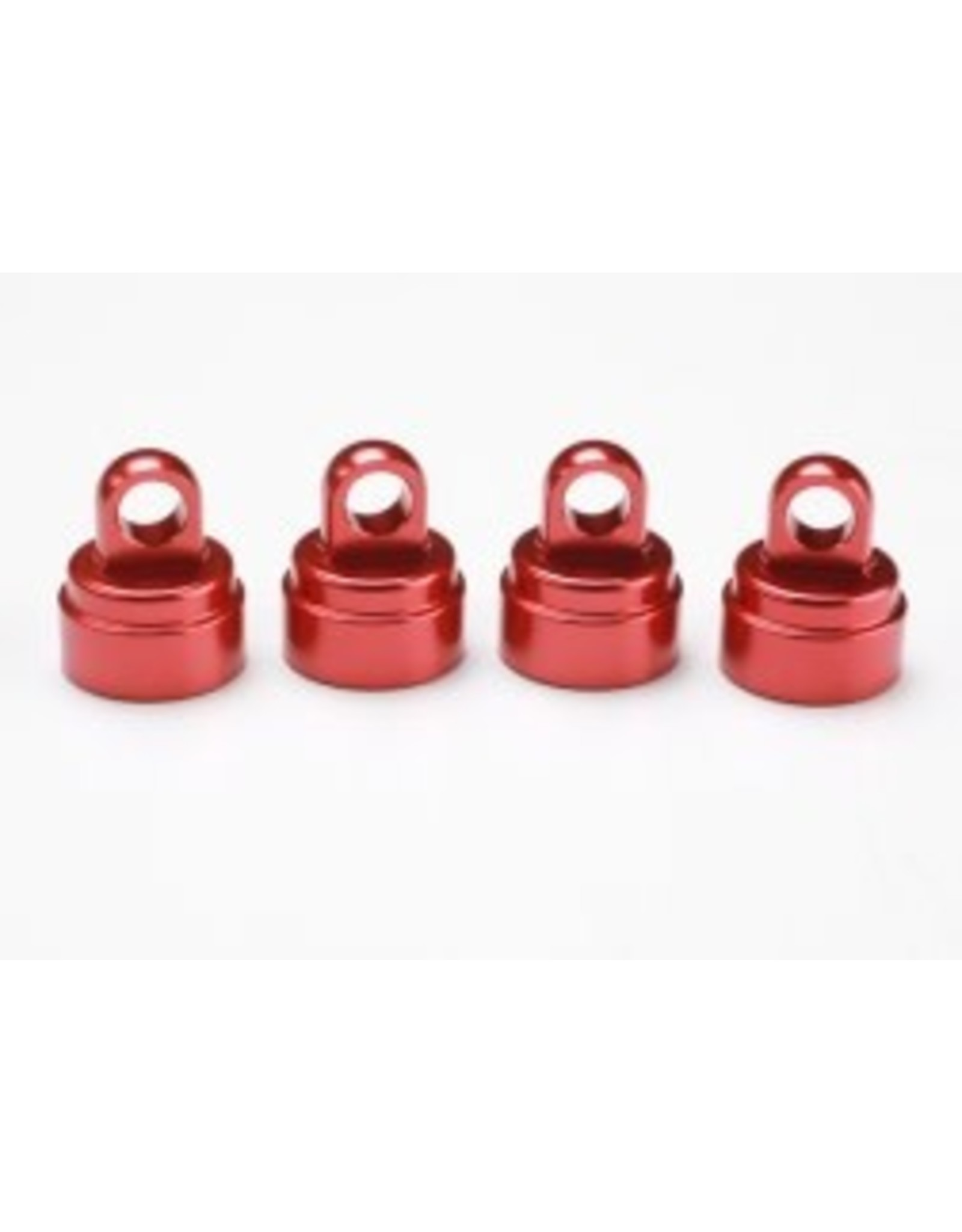 Traxxas Aluminum Shock Caps, Red (4): Ultra Shocks  (TRA3767X)