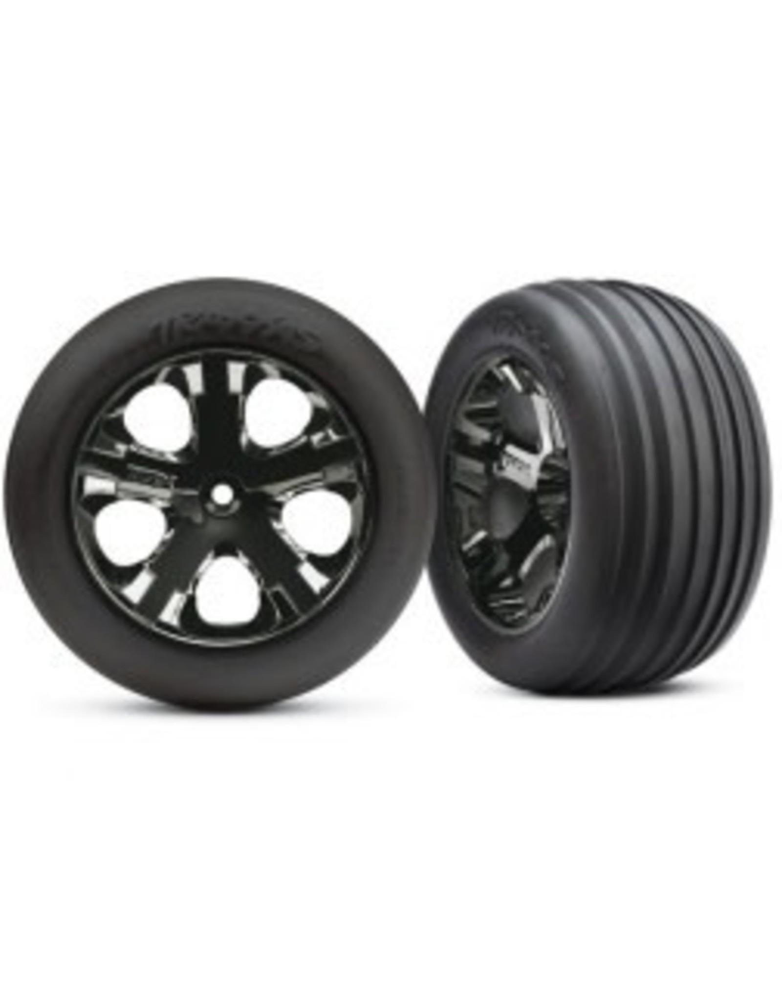 Traxxas All-Star Blk Chrome Whls w/ Alias Tires (2),FR:VXL  (TRA3771A)