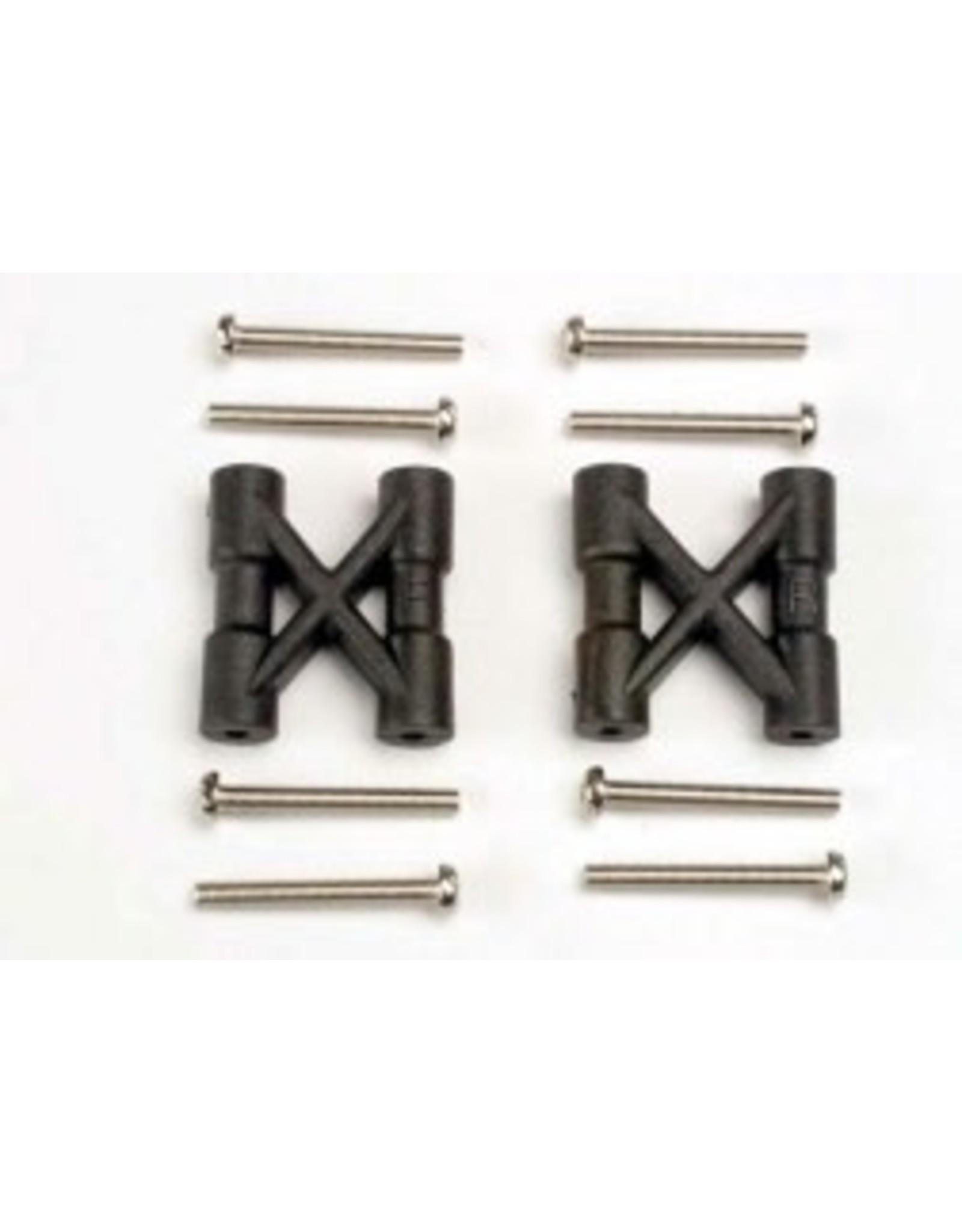 Traxxas Bulkhead cross braces (2)/ 3x25mm CS screws (8)  (TRA3930)