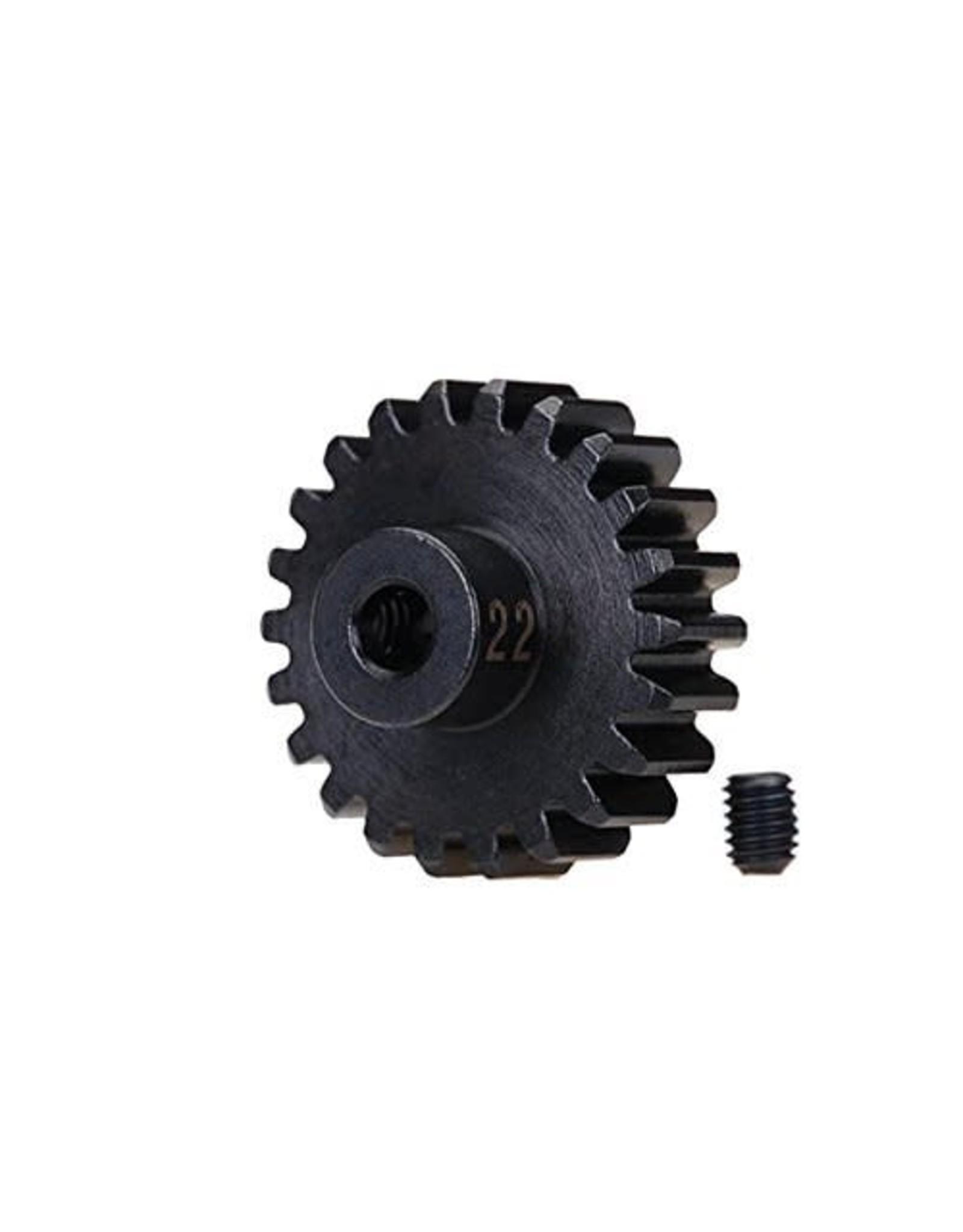 Traxxas Gear, 22-T pinion (32-p), heavy duty (machined, hardened steel)/ set screw (TRA3952X)