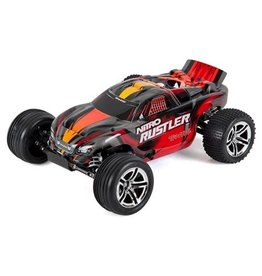 Traxxas 1/10 Nitro Rustler 2.5 2WD Stadium Truck RTR with TSM, Silver/Red