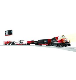 Lionel First Responders Set - Norfolk Southern, 4 Cars, FasTrack Oval, Transformer
