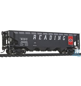 Walthers Offset Hopper - Reading (black, red, Large Lettering, Anthracite Logo)