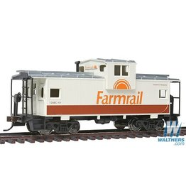 Walthers Caboose - Farmrail (tan, brown, orange)