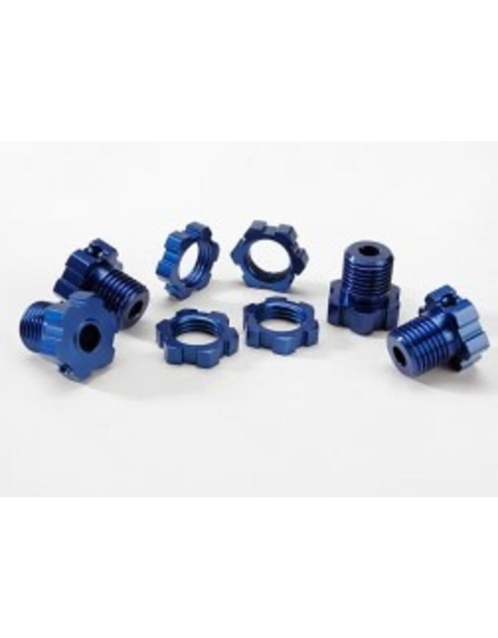 Traxxas 17mm Wheel Hubs Splined, Blue (4)  (TRA5353X)