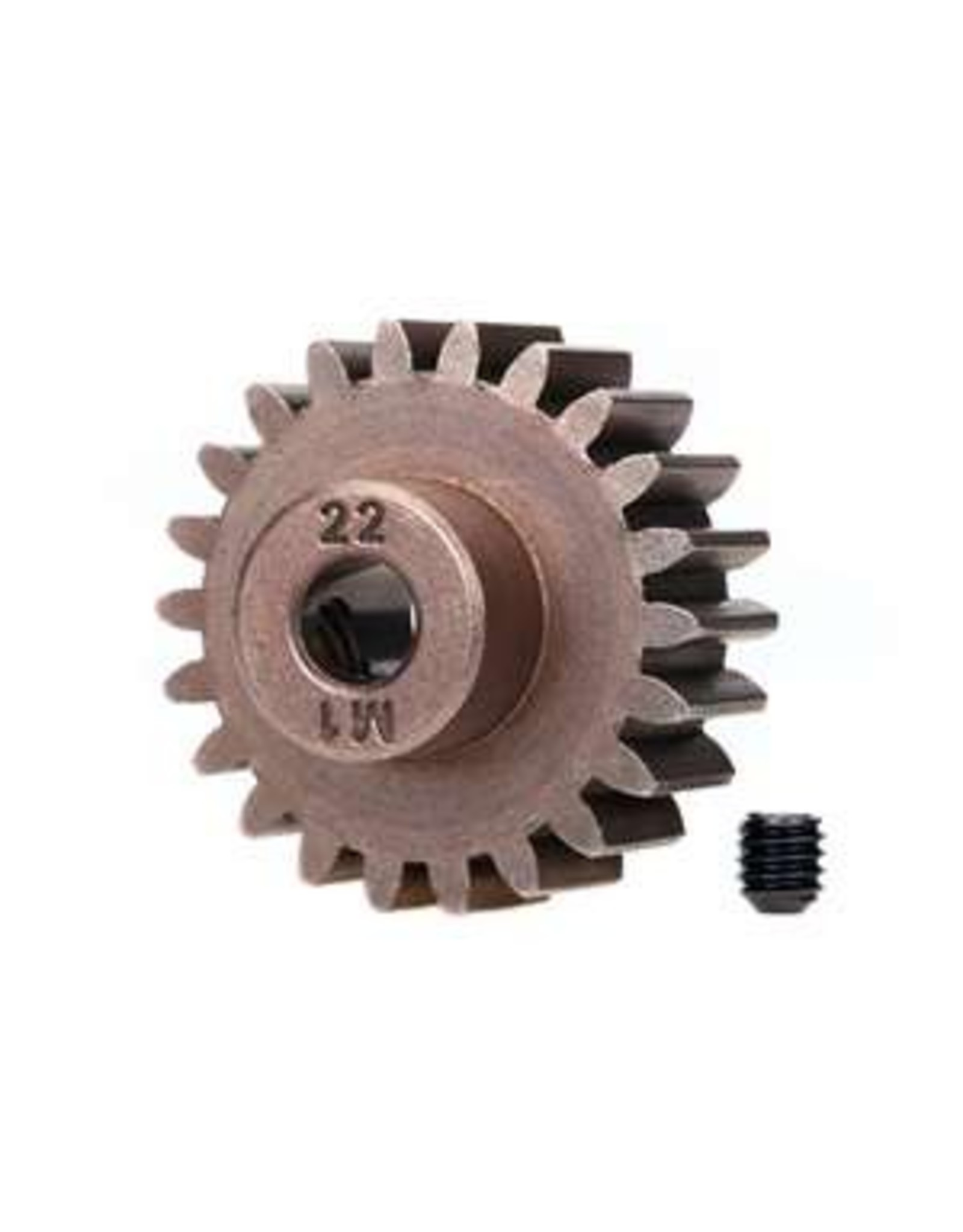 Traxxas Gear, 22-T pinion (1.0 metric pitch) (fits 5mm shaft)/ set screw (compatible/ steel spur gears) (TRA6495X)
