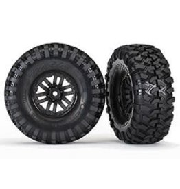 Traxxas Tires and wheels, assembled, glued (TRX-4 wheels, Canyon Trail 1.9 tires) (2) (TRA8272)