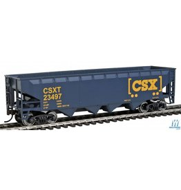 Walthers Offset Hopper - CSX Transportation (blue, yellow; Boxcar Logo)