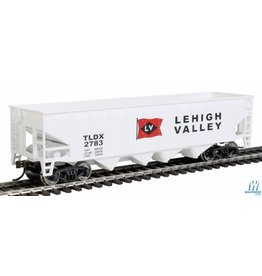Walthers Offset Hopper - Lehigh Valley (white, black, red; Flag Logo)