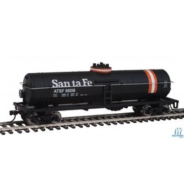 Walthers Tank Car - Atchison, Topeka & Santa Fe #98016 (black, Orange & White Stripes)