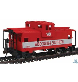 Walthers Caboose - Wisconsin & Southern (red, gray)