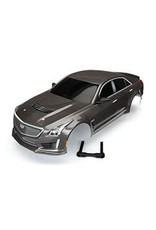 Traxxas Body, Cadillac CTS-V, silver (painted, decals applied)