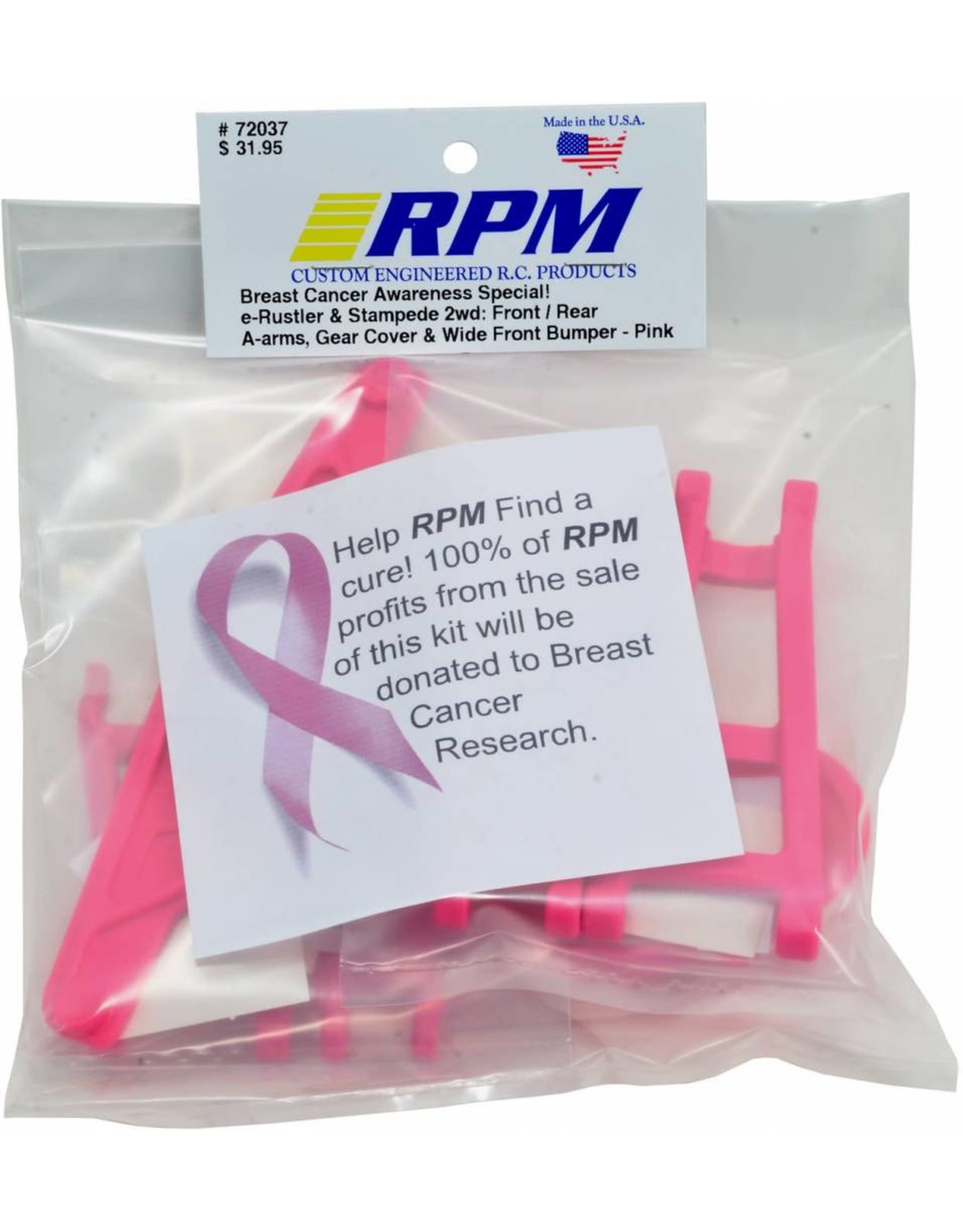 RPM Limited Edition Pink Package for Traxxas Rustler or Stampede  (RPM72037)