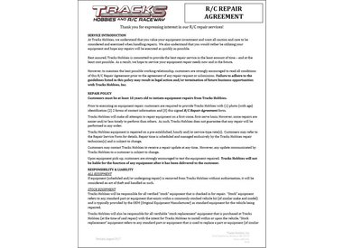 R/C REPAIR AGREEMENT