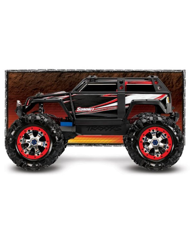 Traxxas 1/10 Summit 4WD Monster Truck (RED): No Battery, No Charger