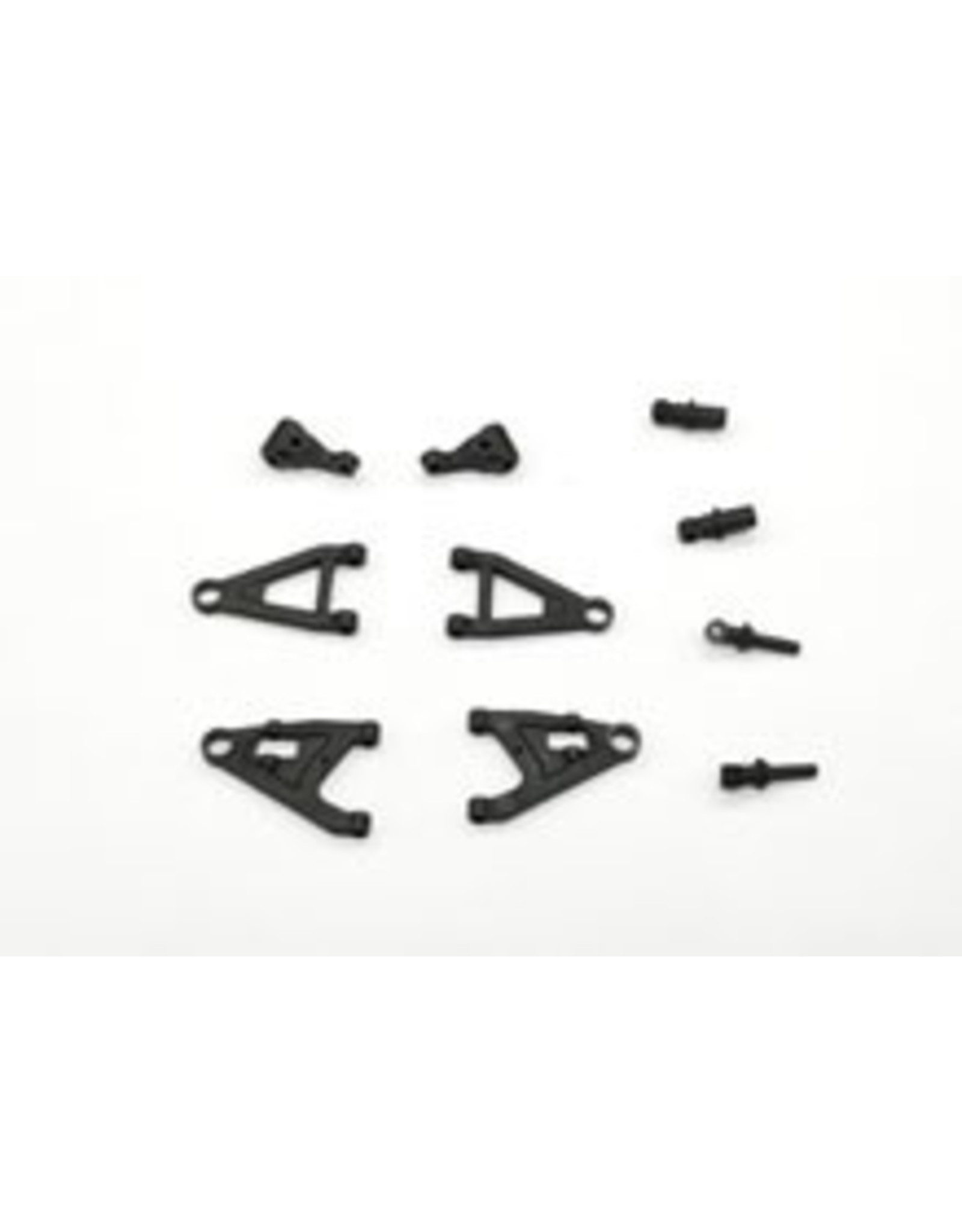 GL Racing GLF-1 UPPER/LOWER ARMS, STEERING KNUCKLE & FRONT SHOCK (GLF-S-005)