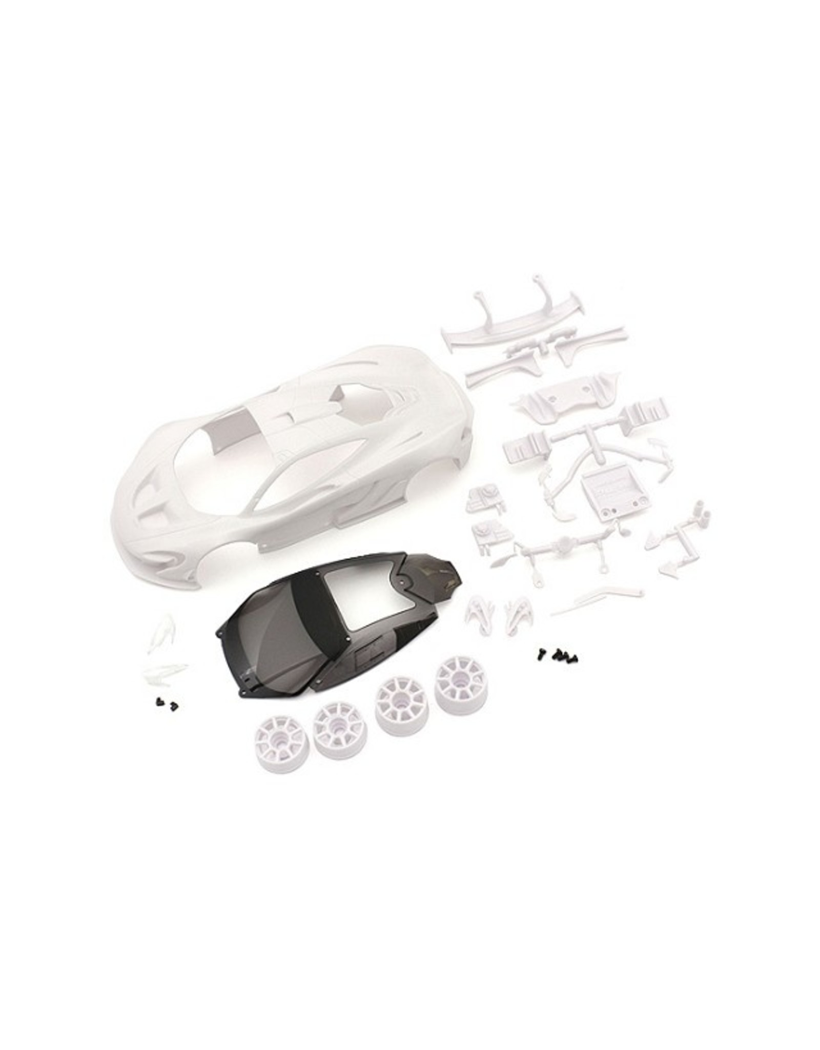 Kyosho McLaren P1 GTR White body set (w/Wheel)  (MZN190)