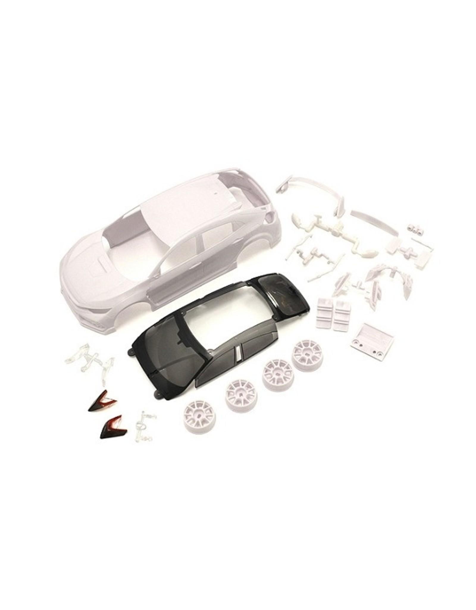 Kyosho Honda CIVIC TYPE R White body set (w/Wheel)  (MZN194)