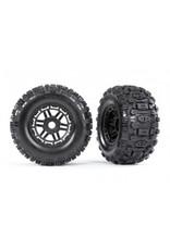 Traxxas Maxx Sledgehammer Tires & Wheels (Black) (2) (17mm) (TSM® Rated)(8973)