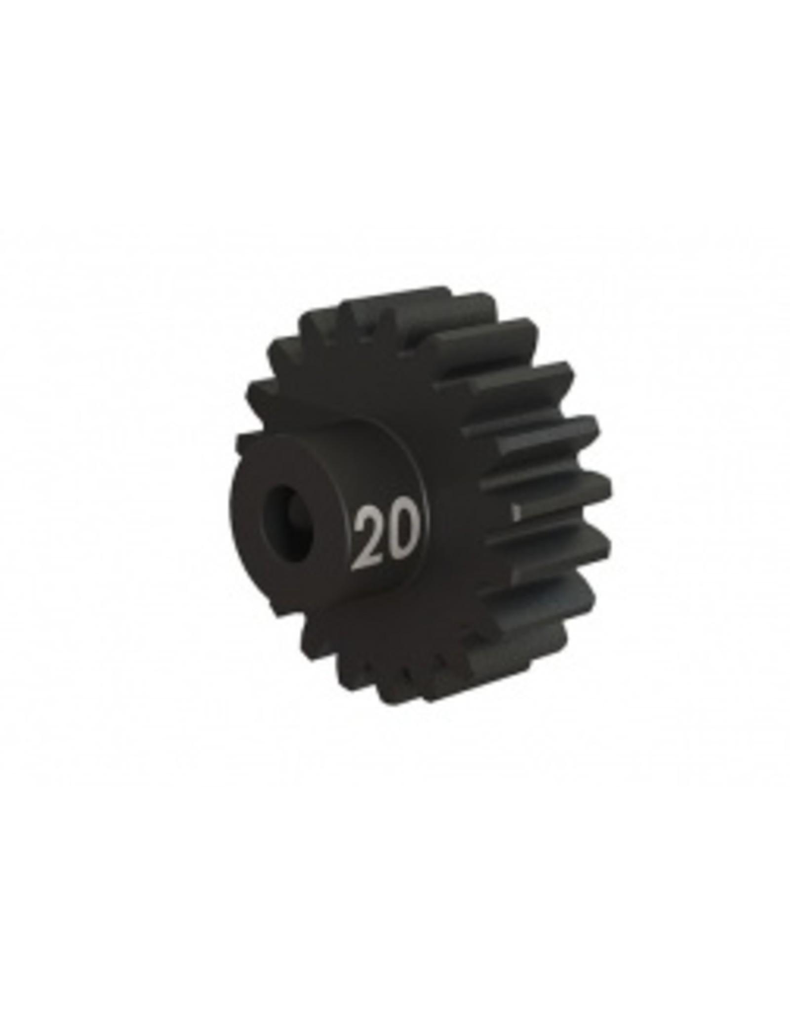 Traxxas Gear, 20-T pinion (32-p), heavy duty (machined, hardened steel)/ set screw