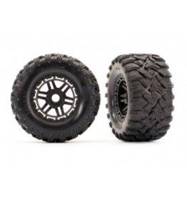 Traxxas Maxx Tires & Wheels (Black) (2) (17mm) (TSM® Rated)(8972)