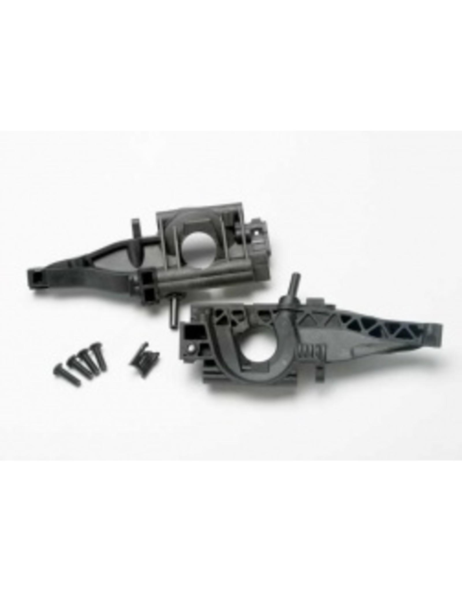 Traxxas Bulkhead, rear (L&R halves)/ diff retainer, rear (2) (5329)