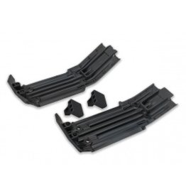 Traxxas Skidplate, front (1), rear (1)/ rubber impact cushion (2) (TRA7744)