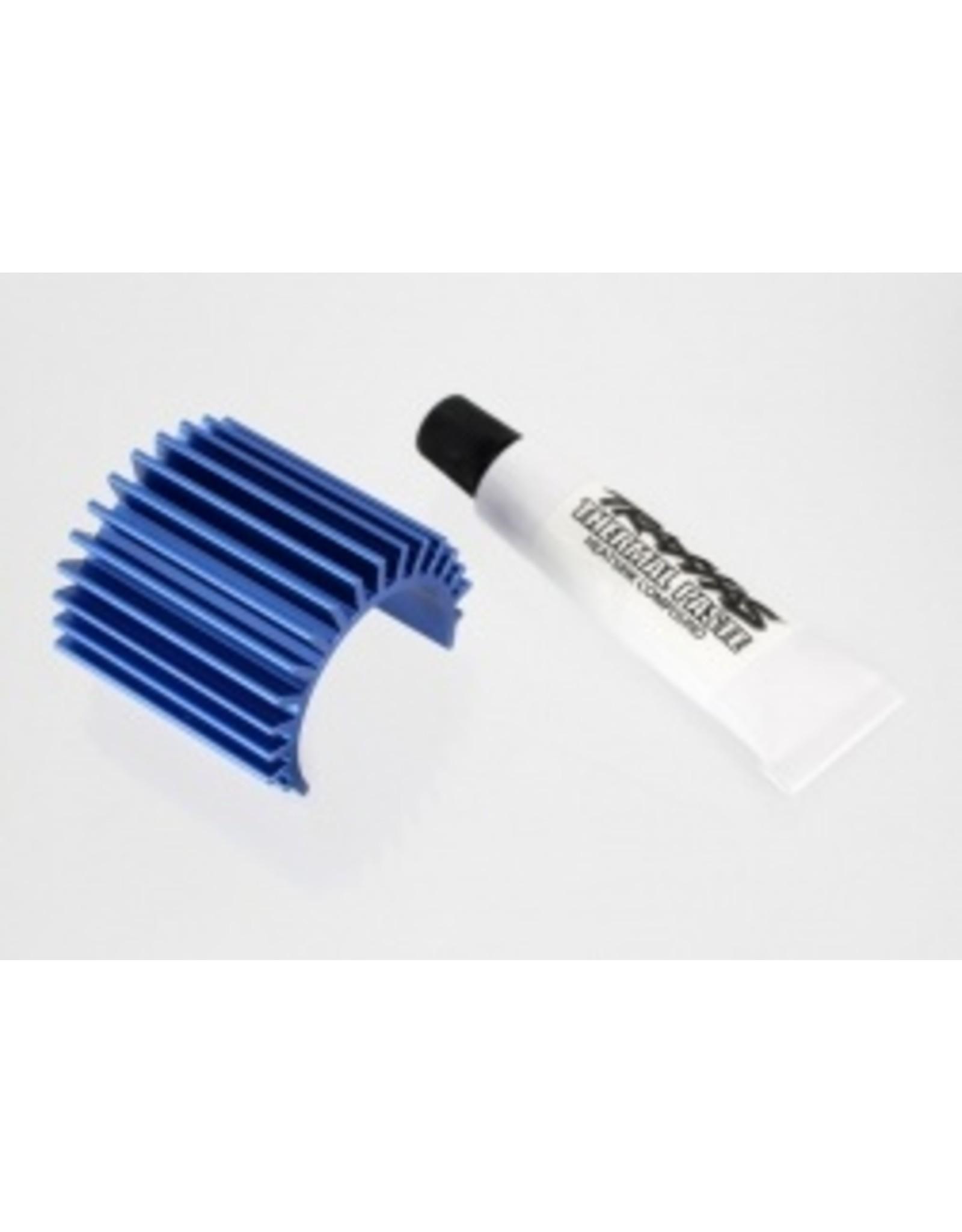 Traxxas Aluminum Heat Sink, Blue: 1/16 VXL Models  (TRA3374)