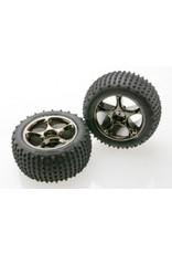 "Traxxas Rear Tracer 2.2"" Black Chrome Wheels: Bandit (TRA2470A)"