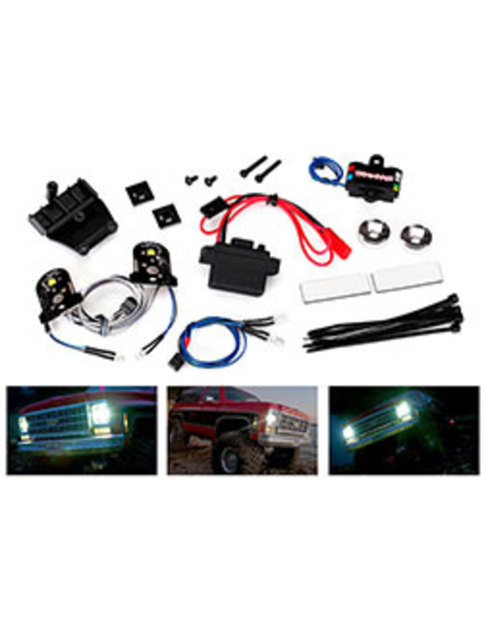 Traxxas LED light, complete/power supply (contain head/tail/side marker, distrib block/power supply) (fits #8130 body) (8038)