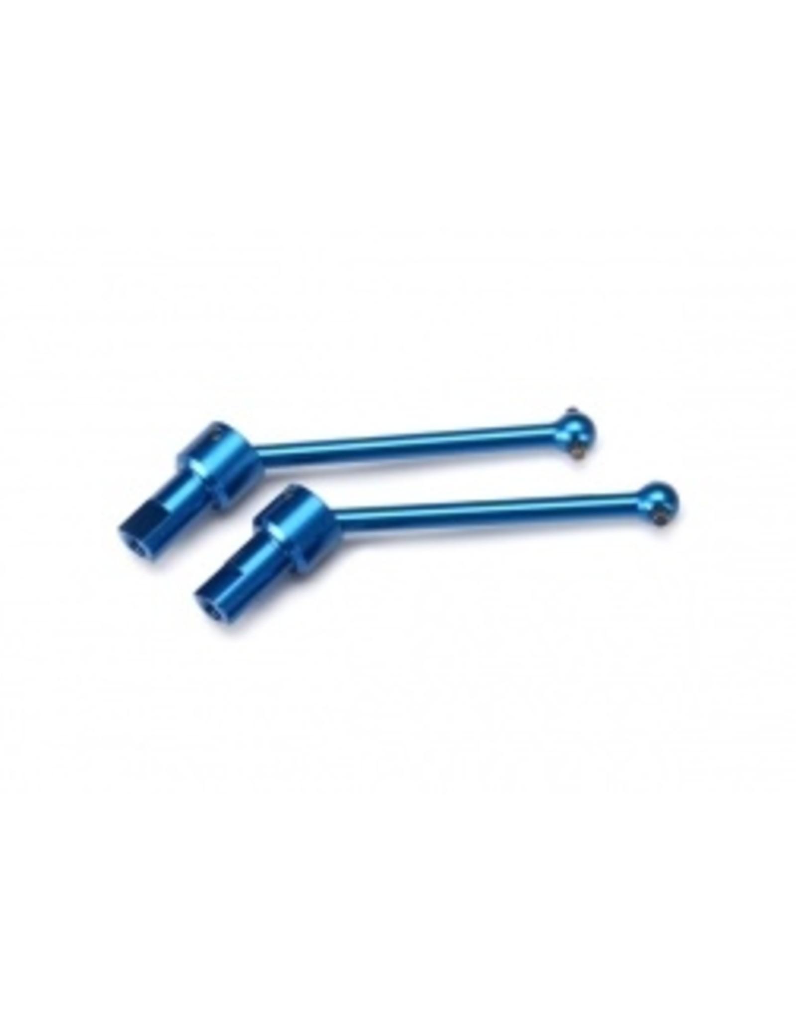 Traxxas Driveshaft assembly, front & rear, aluminum (blue) (2) (Teton/Pre) (7650R)