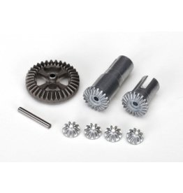Traxxas Gear set, differential, metal (output gears (2)/ spider gears (4)/ ring gear, 35T (1)/ 2x14.8mm pin (1)(7579X)
