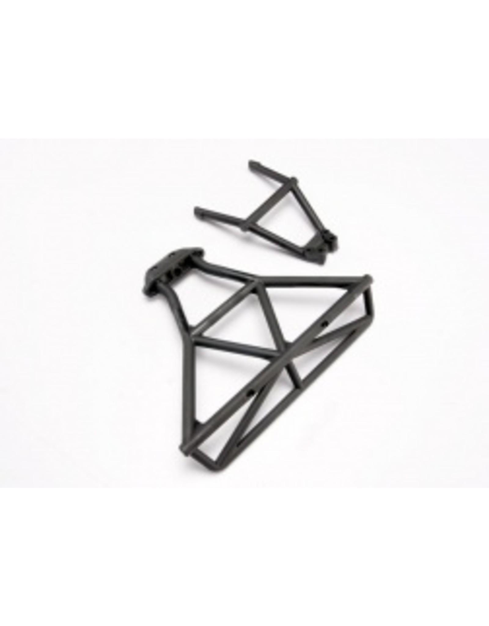 Traxxas Bumper, rear/ bumper mount, rear (black)  (TRA6836)