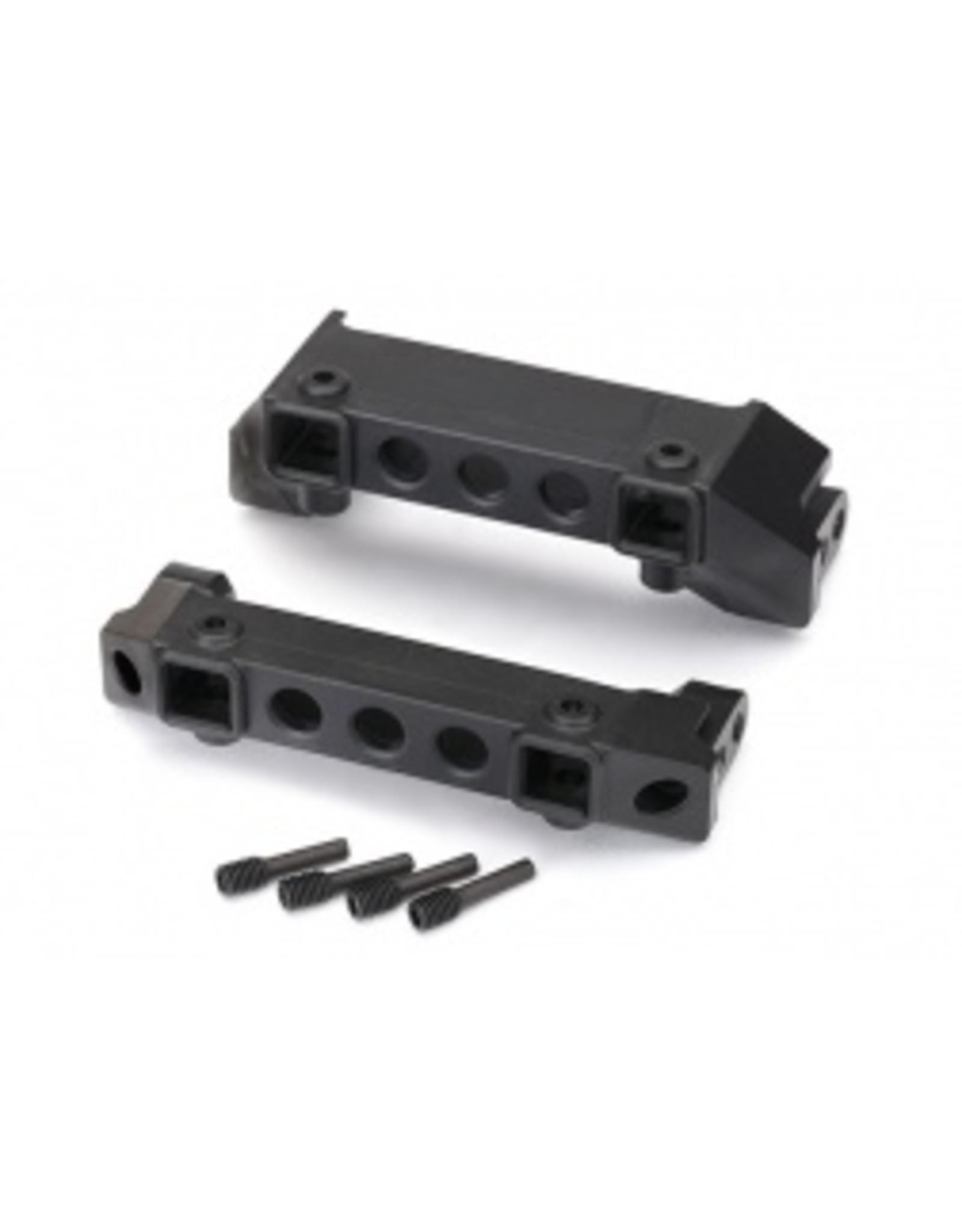 Traxxas Bumper mounts, front & rear/ screw pins (4)  (8237)