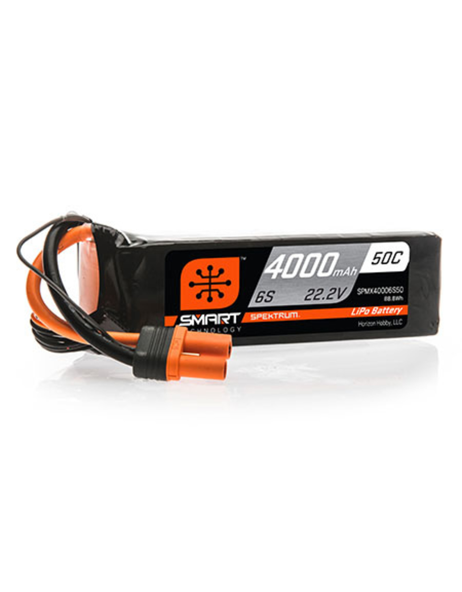 Spektrum 4000mAh 6S 22.2V 50C Smart LiPo Battery; IC5 (SPMX40006S50)
