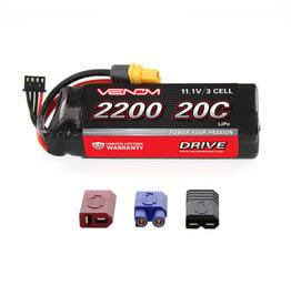 Venom Power DRIVE 11.1V 2200mAh 20C 3S LiPo Battery: UNI 2.0 Plug (VNR1577)