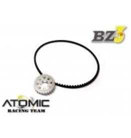 Atomic 26T(OPTION) PULLEY FOR BZ ALUMINIUM BALL DIFF (W/ BELT) (BZ3-UP03-P26)
