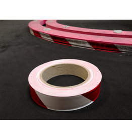 "PN Racing RCP Tracks Red/White Vinyl Tape 1"" x 100 Feet"