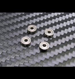 PN Racing PN Racing Mini-Z 2x6x2.5mm Shield Hub Dry Ball Bearing (4pcs) (600127)