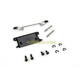 PN Racing PN Racing Mini-Z MR03 Pro Front Lower Arm Set Wide (Silver) (MR3052WS)