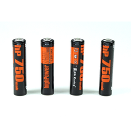 PN Racing PN Racing High Power 750mah Ni-MH Rechargeable  AAA Battery (4pcs)  (HP750)