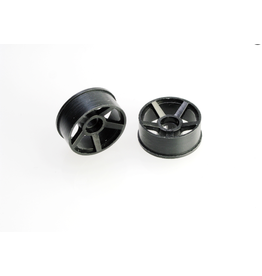 PN Racing PN Racing Mini-Z 2WD Machine Cut 5 Spoke (205) Front Wheel F0 Black